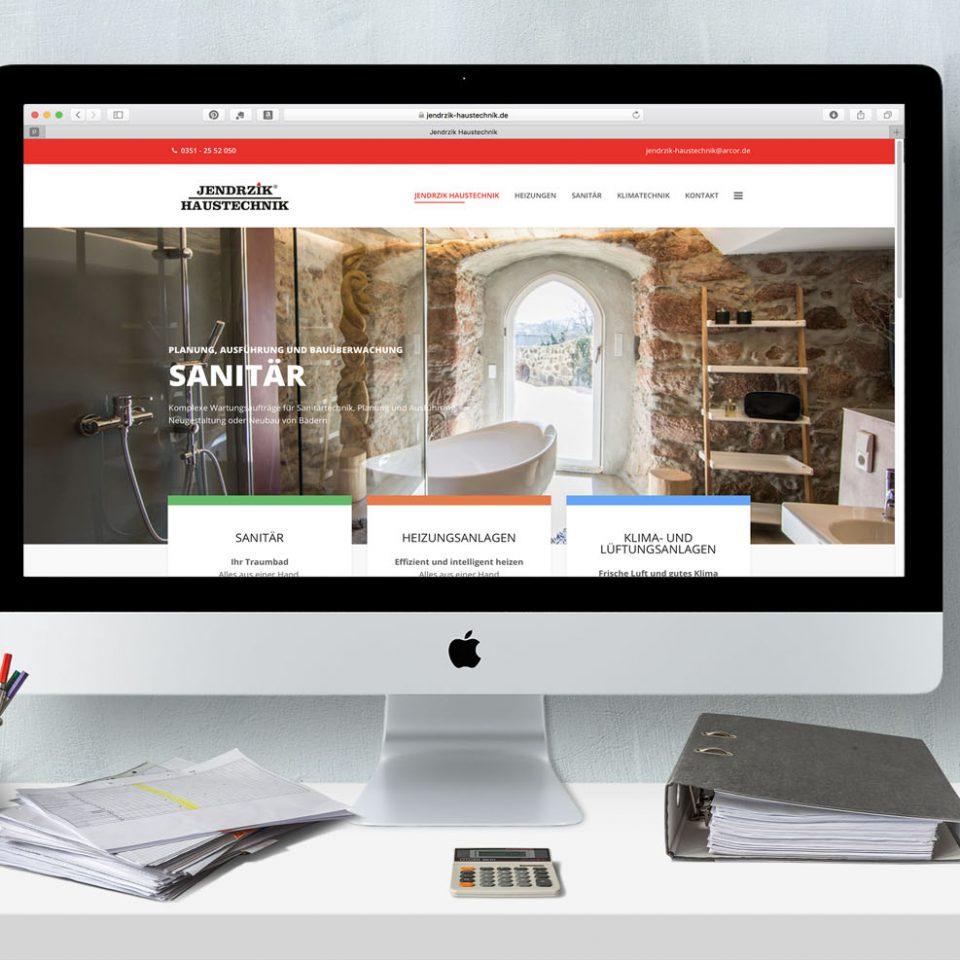 Jendrzik Haustechnik Website responsive